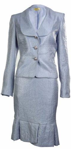 Kasper Womens Business Suit Skirt Set (4, Lilac)