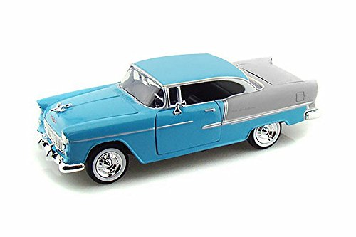 (1955 Chevy Bel Air, Blue - Motormax Premium American 73229 - 1/24 Scale Diecast Model Car)
