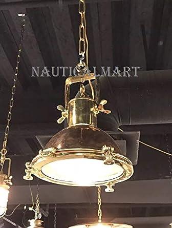 Nauticalmart Nautical Marine Hanging Ceiling Pendant Brass Copper