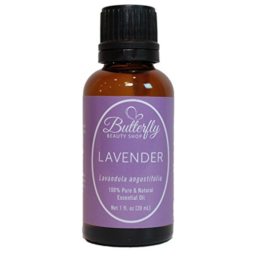 French Lavender Essential Oil: 30mL. Sleep Better, Lower Anxiety & Stress. 100% Pure Lavandula Angustifolia. Uses: Aromatherapy, Massage, Bath, Hair & Skin Care & Headaches. (Shop Butterfly)