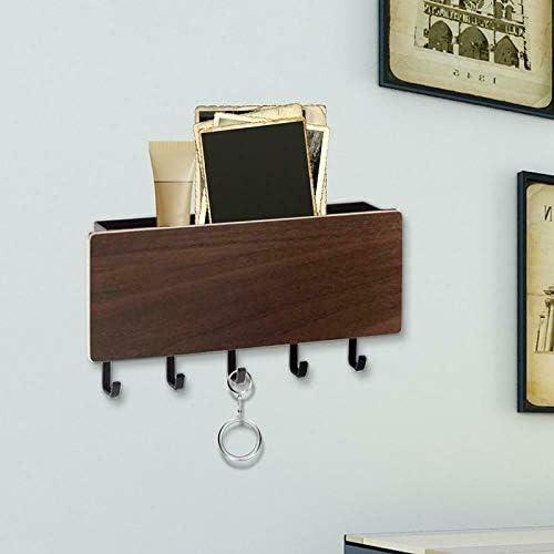 Soporte de pared para llaves con 5 ganchos organizador para puerta de entrada y pasillo Guajave