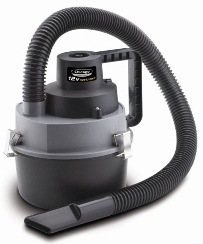 Chicago Power Tools 39605 12-Volt Wet/Dry Portable Vacuum Cleaner