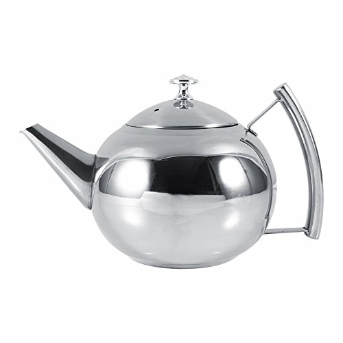unbrand 1.5L Stainless Steel Kettle Kitchen Coffee Pot Restaurant Container Home Hotel Cafe Bar Water Jug with Filter Teapot by unbrand (Image #4)