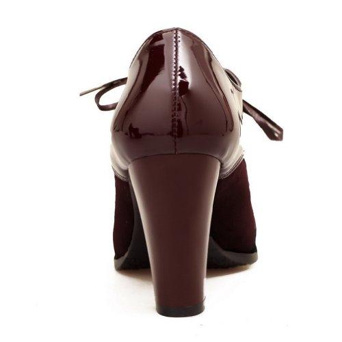 E Womens Robusto Pu Sorrel Alto Piattaforma Con Round Bende Toe Voguezone009 Scarpe Tacco Closed axUqvzFdwF