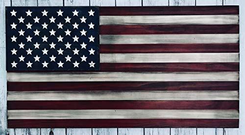 (USA Wooden Flag, Wooden American Flag Wall Decor, American Flag On Wood Wall Art, American Flag Decor, Rustic Wood American Flag, USA Wooden)