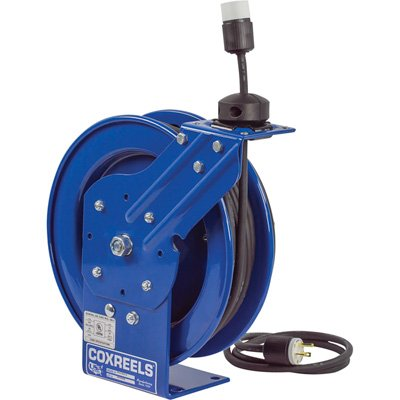 (Coxreels PC13-5016-A Spring Rewind SJO Power Cord Reel, 115 Volts, 13 Amp, 50' Length)