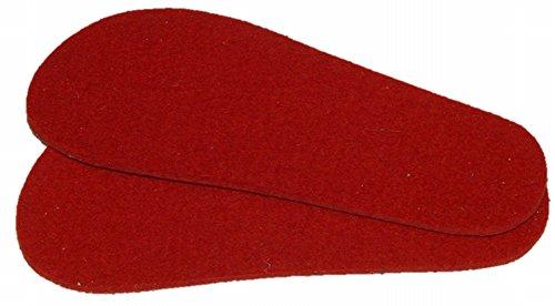 Mopu's® Krabbelschuhe - Einlegesohle aus Schurwollfilz in rot Stärke ca. 3,5mm