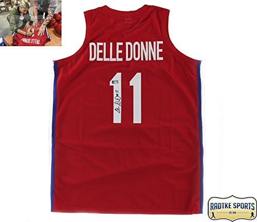 Elena Delle Donne Autographed Signed Team Usa Custom Red Jersey