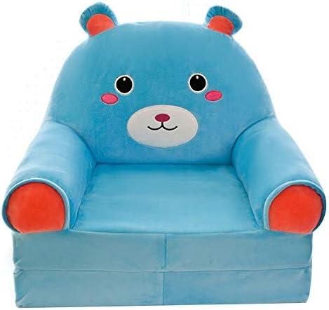 怠zyなソファ 多機能ソファーキッズソファ布張りの椅子 弾力性 (Color : Blue, Size : 45x50x75cm)