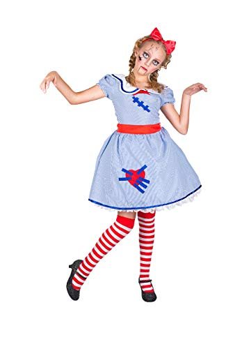 Girl's Scary Broken Doll Costume, for Halloween Party Accessory, Medium
