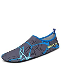 MAYZERO Men Women Water Shoes Barefoot Skin Sock Quick Dry Aqua Shoes for Beach Pool Swim Surfing Boating