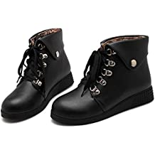 High Spring Autumn Winter Woman Flat Ankle Boots Lace-Up Women Flats Casual Shoes Short Boots Plus Size