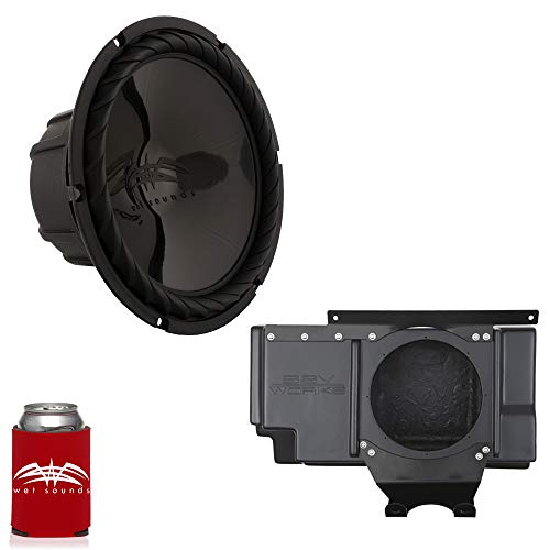 Wet Sounds – SS-10BS4 Black 10″ Subwoofer with SSV Works Polaris RZR 1000 Behind The Seat Enclosure