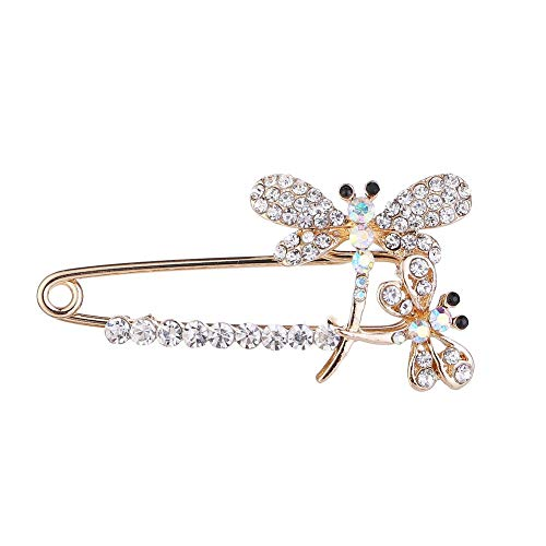 - YOUYUZU Crystal Rhinestone Animal Dragonfly Safety Brooches Pin Suit Sweater Scarves Scarf Brooch Charm for Women