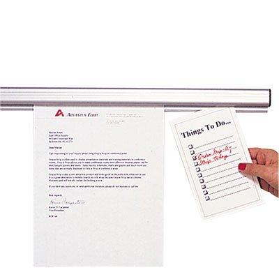 Grip-A-Strip Display Rail, 48 x 1 1/2, Aluminum Finish, Sold as 1 Each