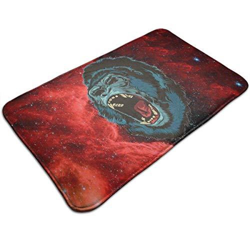 NfuquyamDoormat Angry Gorilla Ape Roar Soft Cozy Classic Non-Slip Doormat Entrance Funny Floor Mat Coir Rug -