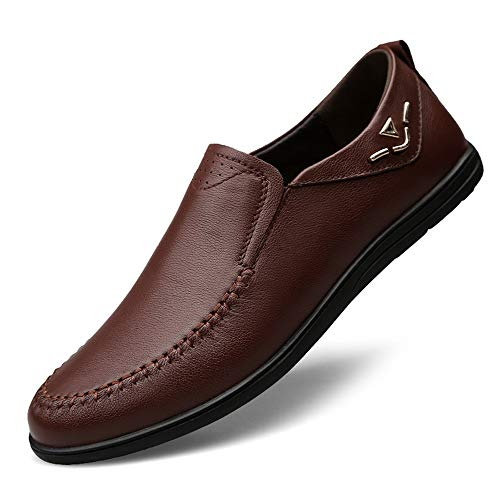 los Planos tamaño del 28 Barco genuinos 23 Zapatos Brown conducción Hombres Zapatos de 0cm Negocio Zapatos Ocasionales de de Marrón Cuero los Zapatos Hcwtx Zapatos 0cm Negro de Moccasin Gommino awgZHZzx