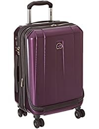 Delsey Luggage Helium Shadow 3.0, International Carry On Luggage, Front Pocket Hard Case Spinner Suitcase, Purple