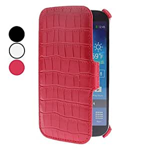 Crocodile Grain PU Leather Case for Samsung Galaxy S4 I9500 (Assorted Colors) , Black