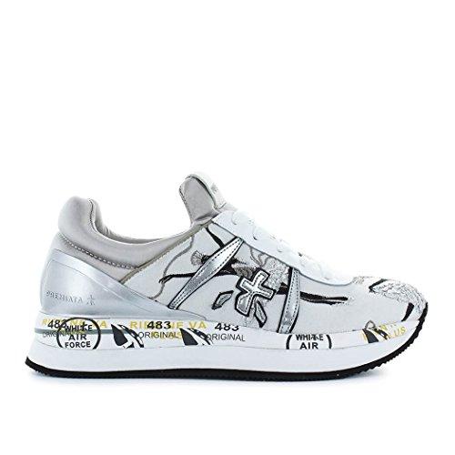 Donne Premiata Liz2998 Sneakers In Pelle Grigia