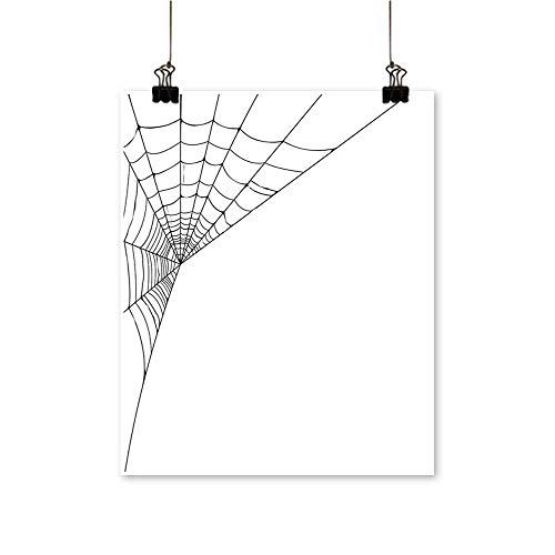 Modern Canvas Painting Wall Art Web Icon Background Abstract Form Halloween Scary Evil Themed Illustration Black White for Home Office,12
