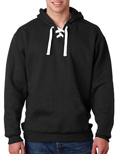 J. America Sport Lace Jersey-Lined Three-Piece Hood, Black, XXX-Large ()