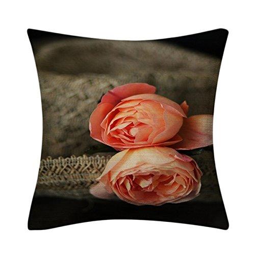aonbon Cotton Linen Decor manta funda de almohada Funda de ...