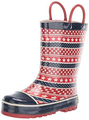 (Western Chief Boys Kid's Waterproof Printed Rain Boot, Dotty, 13/1 M US Toddler)
