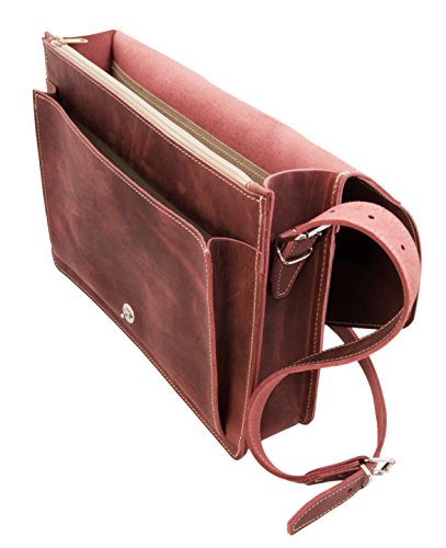 Thielemann Handmade in Germany, Borsa a tracolla donna rosso Rot antik