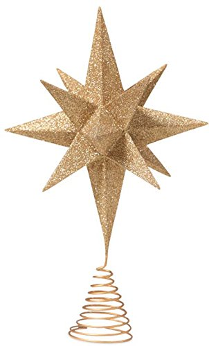 Bethany Lowe Designs Gold Moravian Star Tree Topper ()