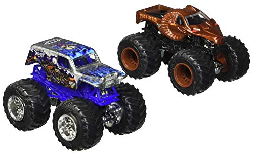 Price comparison product image Hot Wheels Monster Jam 2017 Demolition Doubles Son-Uva Digger Vs. Zombie Hunter 1:64 Scale