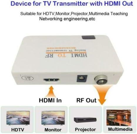 HDMI zu RF-Koaxial-Konverter-Box mit Fernbedienung Weiß EU