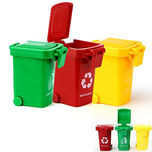 Crazystone's Kids Push Toy Vehicles Garbage Truck's Trash Cans 6-Pack (Toy Trash Can compare prices)