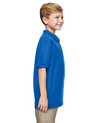 Gildan Boys DryBlend 6.3 oz. Double Piqué Sport Shirt (G728B) -Royal -M-12PK by Gildan (Image #2)