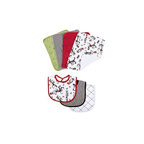 Trend Lab 3 Piece Bib and 4 Piece Burp Cloth Set, Dr. Seu...