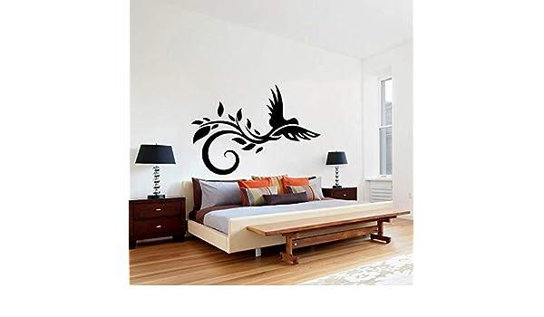Zaosan Elegante Animal Tatuajes de Pared Pájaro Flor Hoja Arte ...