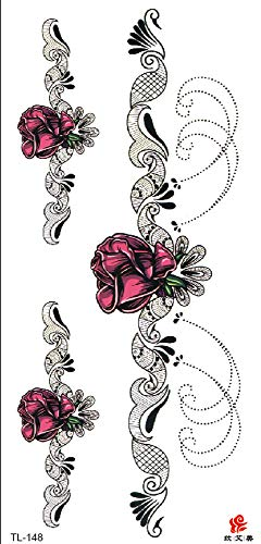 Rose Tramp Stamp Temporary Tattoo Body Art Girly Tattoos Tattoo Ideas Leg Hip Ankle