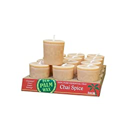 Aloha Bay Candle Votive Essential Oil Chai Spice -- 12 Candles