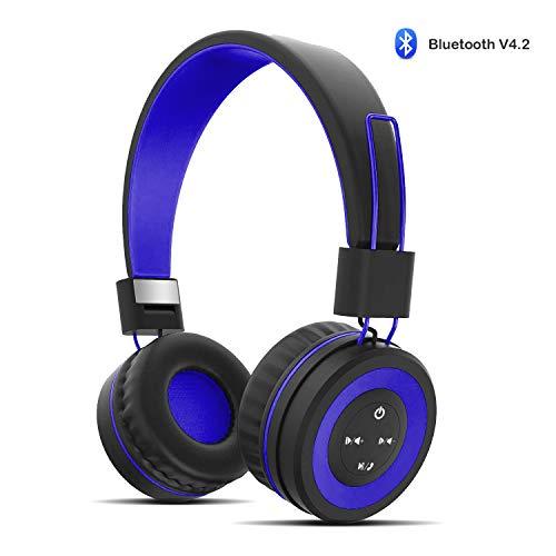 Wireless Headphones for Kids,Fanxieast Kids Bluetooth Headphones Volume Adjust Foldable Over Ear Portable Headphones for iPhone/iPad/Smartphones/Laptop/PC/TV