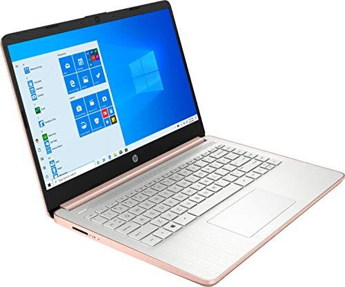 "2021 Newest HP Stream 14"" HD SVA Laptop Computer, Intel Celeron N4000 Processor, 4GB RAM, 128GB Space(64GB eMMC+64GB MSD), Office 365, HDMI, USB-C, Windows 10, Rose Gold, AllyFlex MP, Online Class"