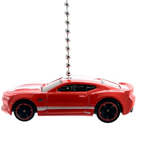 Chevy Camaro Diecast Ceiling Fan Pull & Ornament 1:64 Scale (2016 Camaro SS Red)