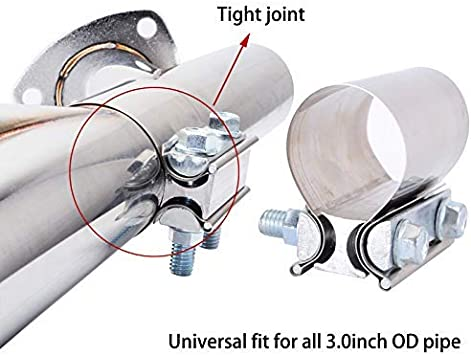 Headers /& Manifolds Mufflers Downpipe Sydien Universal Stainless Steel 2 Butt Joint Band Exhaust Clamp Car Modified Tools For Exhaust Pipes