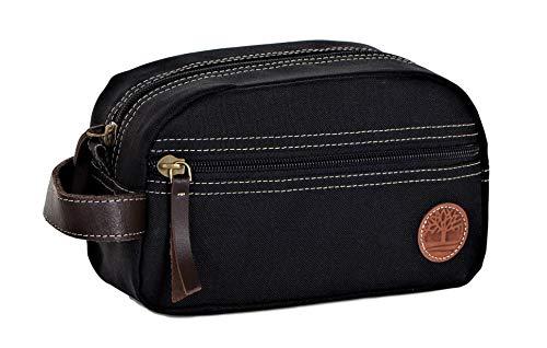 (Timberland Men's Travel Kit Toiletry Bag Organizer, black, One Size)