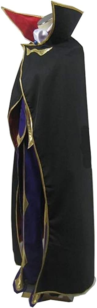 Yunbei Lelouch Lamperouge Cosplay Costume Black Knight Uniform