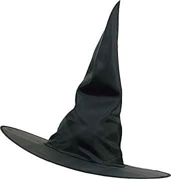 2c0a62115ad Amazon.com  Bristol Novelty Unisex Halloween Fancy Dress Party Accessory  Adults Witch Plain Nylon Hat Black  Clothing