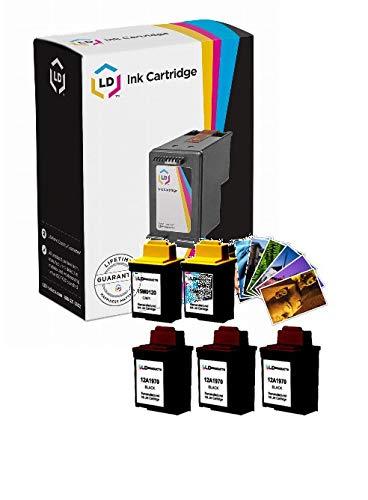 Inkjet 12a1970 Cartridge Black Remanufactured (LD Remanufactured Ink Cartridge Replacements for Lexmark 70 12A1970 & 20 15M0120 (3 Black, 2 Color, 5-Pack))