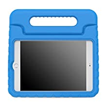 iPad Mini 4 Case, Moko Kids Shock Proof Convertible Handle Light Weight Super Protective Stand Cover Case for Apple iPad Mini 4 2015 Tablet, BLUE