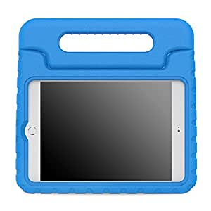 MoKo Case for iPad Mini 4 - Kids Shock Proof Convertible Handle Light Weight Super Protective Stand Cover Case for Apple iPad Mini 4 2015 Tablet, BLUE