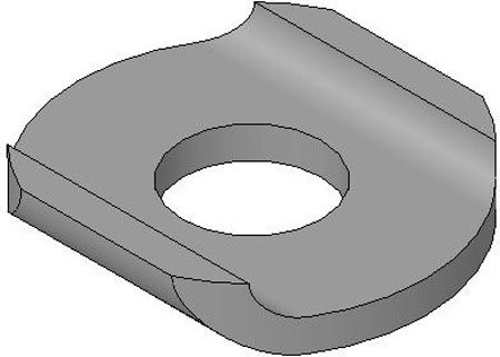 De-Sta-Co Clamp Accessories, Flanged Washer For U-Bar Clamp, Use w/No. 10 spindle, Steel (1 Each)