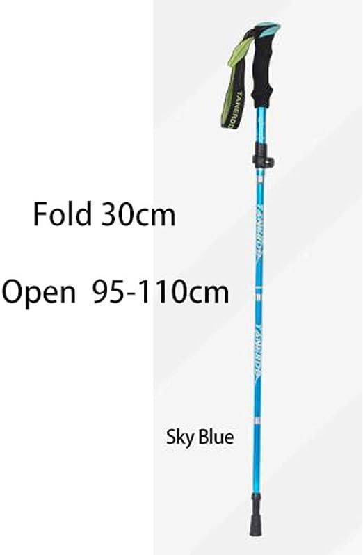 Plegable De Tres Veces Trekking Polo/Senderismo Postes ...